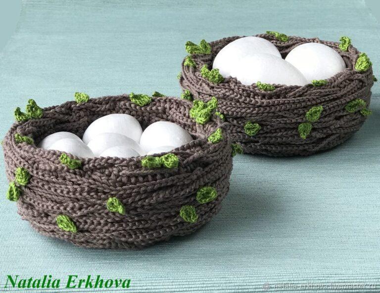 Гнездо крючком handmade