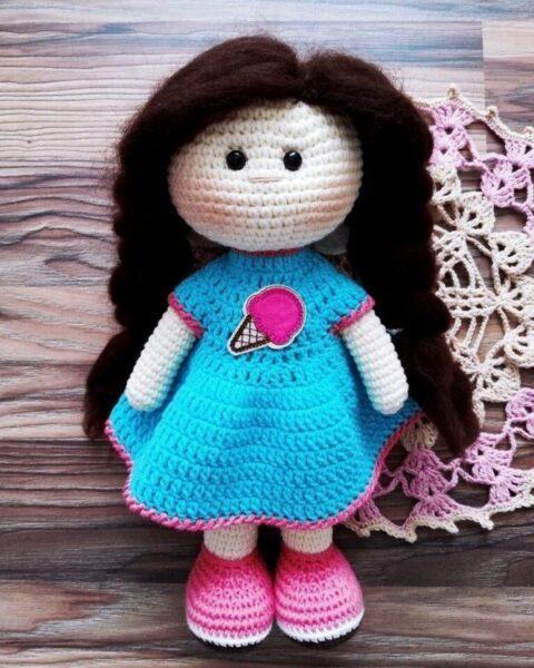 Вязаная кукла Hand Made