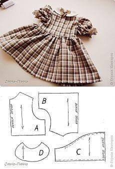 Выкройка одежды для кукол