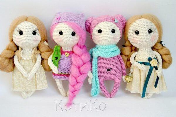Вязаные куколки Hand Made