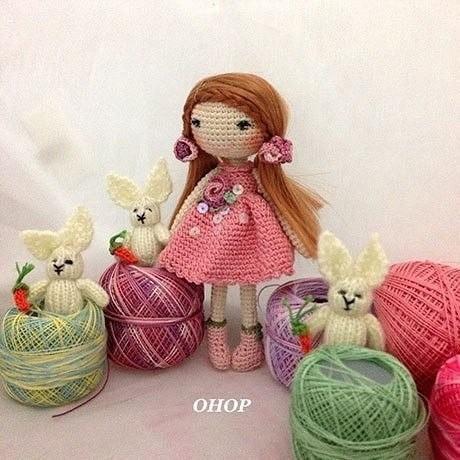 Вязаная куколка Hand Made