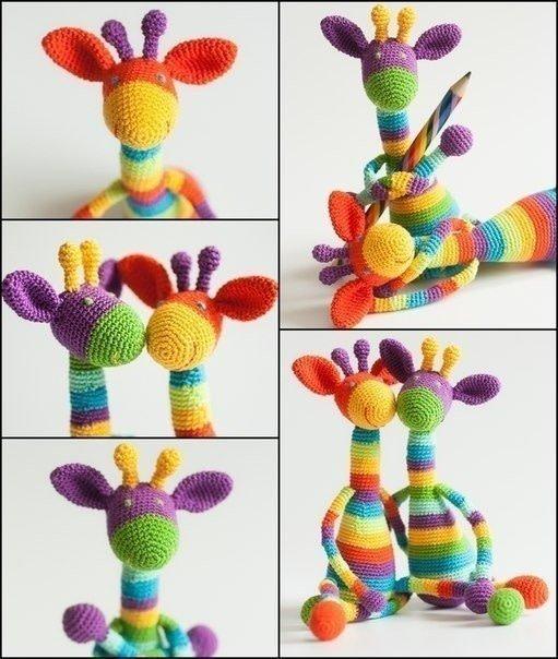 Радужные жирафики handmade