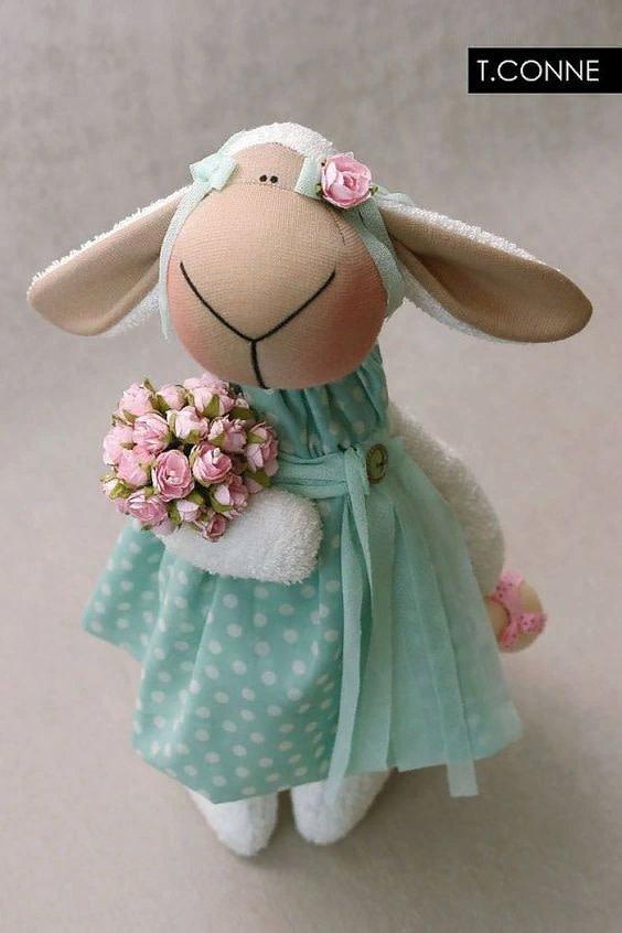 Выкройка овечек. Текстильная игрушка ручной работы