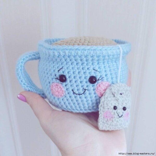 Вязаная чашка Hand Made