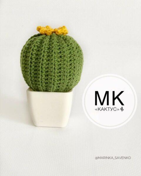 МК по созданию кактуса ручной работы